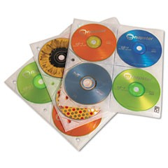 Two-Sided CD Storage Sleeves for Ring Binder, 25 Sleeves