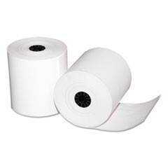 "Single-Ply Thermal Cash Register Rolls, 3"" x 225 feet, White, 24/Carton"