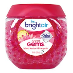 Scent Gems Odor Eliminator, Island Nectar and Pineapple, Pink, 10 oz Gel