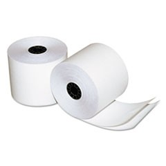 "Two-Ply Calculator/Cash Register Rolls, 2-1/4"" x 90 feet, White/White, 50/Carton"
