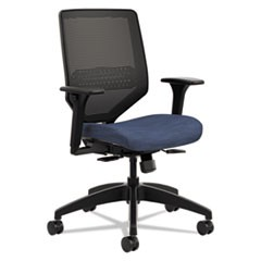 Solve Series Mesh Back Task Chair, Supports up to 300 lbs., Midnight Seat, Black Back, Black Base