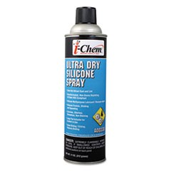 Ultra Dry Silicone Spray, 11 oz Aerosol Can, 12/Carton