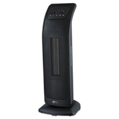 "Tower Ceramic Heater with Remote Control, 8 3/8""w x 9 1/4""d x 23 1/8""h, Black"