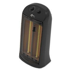 "Quartz Tower Heater, 13 1/4""w x 10 1/8""d x 23 1/4""h, Black"