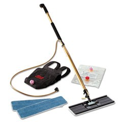 "Easy Shine Applicator Kit w/Backpack, 18"" Pad, 43"" - 63"" Handle, Gold/Black"