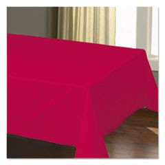 "Cellutex Table Covers, Tissue/Polylined, 54"" x 108"", Red, 25/Carton"