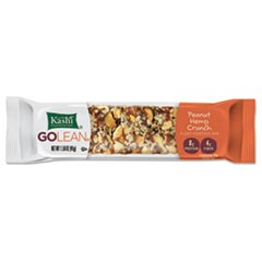 GOLEAN Fiber & Protein Bars, Peanut Hemp Crunch, 1.58 oz Bar, 8/Box