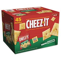 Cheez-it Crackers, 1.5 oz Bag, White Cheddar, 45/Carton