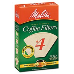 Coffee Filters, Natural Brown Paper, Cone Style, 8 to 12 Cups, 1200/Carton