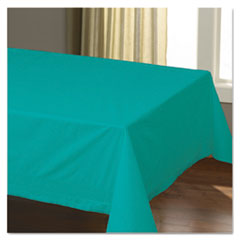 "Cellutex Table Covers, Tissue/Polylined, 54"" x 108"", Teal, 25/Carton"