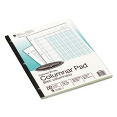 Accounting Pad, Five Eight-Unit Columns, 8-1/2 x 11, 50-Sheet Pad