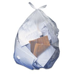 Low-Density Can Liners, 10 gal, 0.35 mil, 23 x 25, Clear, 500/Carton