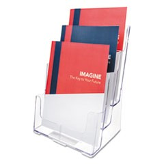 Multi Compartment DocuHolder, Three Compartments, 9-1/2w x 8d x 12-5/8h, Clear