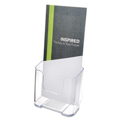 DocuHolder for Countertop/Wall-Mount, Leaflet Size, 4 3/8 x 7 3/4 x 3 1/4, Clear