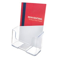 DocuHolder for Countertop/Wall-Mount, Booklet Size, 6.5w x 3.75d x 7.75h, Clear