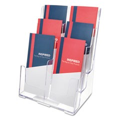 Multi Compartment DocuHolder, Six Compartments, 9w x 7-1/2d x 13-3/4h, Clear