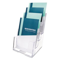 Multi Compartment DocuHolder, Four Compartments, 6-1/2w x 6-1/4d x 10h, Clear