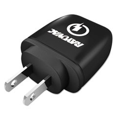 Single USB Wall Charger, 1 USB Port, Black