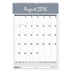Recycled Bar Harbor Wirebound Monthly Wall Calendar, 22 x 31 1/4, 2017
