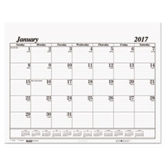 Recycled One-Color Dated Monthly Desk Pad Calendar Refill, 22w x 17h, 2017