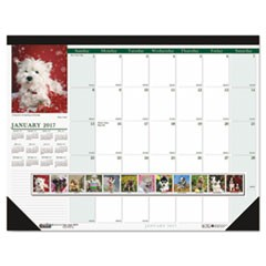 Recycled Puppies Photographic Monthly Desk Pad Calendar, 22 x 17, 2017