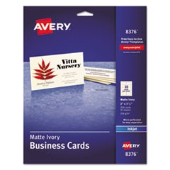 Printable Microperf Business Cards, Inkjet, 2 x 3 1/2, Ivory, Matte, 250/Pack