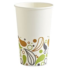 Deerfield Printed Paper Hot Cups, 16 oz, 20 Cups/Sleeve, 50 Sleeves/Carton