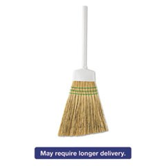"Corn Angle Broom, 12"" Bristles, 54"", Metal Hande, White"