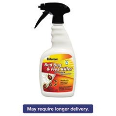 Bed Bug & Flea Killer, 32 oz Spray Bottle, For Bed Bugs/Fleas/Ticks, 12/Carton