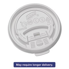 Plastic Lids for Hot Drink Cups, 8oz, White, 1000/Carton