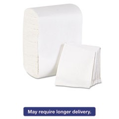 Low Fold Dispenser Napkins, 7 x 12, White, 8000/Carton