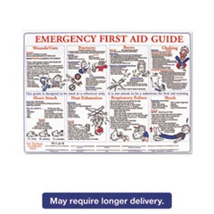 Emergency First Aid Guide Poster, 24 x 18