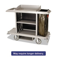 Housekeeping Cart, 22w x 60d x 50h, Platinum