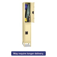 Double Tier Locker with Legs, Single Stack, 12w x 18d x 78h, Sand