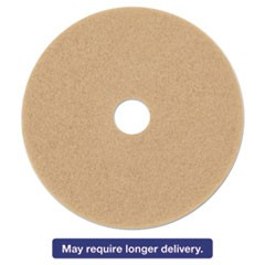 "Ultra High-Speed Floor Burnishing Pads 3400, 17"", Tan, 5/Carton"