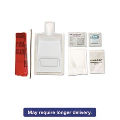 Biohazard Fluid Clean-Up Kit, 7 Pieces, Synthetic-Fabric Bag