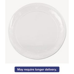 Designerware Plastic Plates, 10 1/4 Inches, Clear, Round, 8/Pack