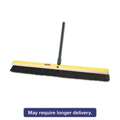 "Fine Floor Sweeper, Tampico/Horsehair, 36""Brush, 3""Bristles, Black, 2/Carton"