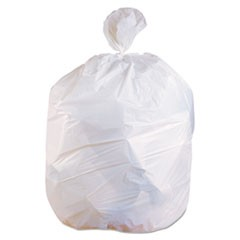 Low-Density Can Liners, 12-16 gal, 0.5 mil, 24 x 32, White, 500/Carton