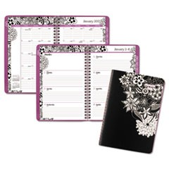 Floradoodle Desk Weekly/Monthly Planner, 6 1/2 x 8 7/8, 2017-2018