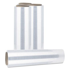 "Handwrap Stretch Film, 12"" x 1500 ft Roll, 20mic (80-Gauge), 4/Carton"