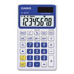SL-300SVCBE Handheld Calculator, 8-Digit LCD, Blue
