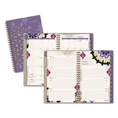 Vienna Weekly/Monthly Appointment Book, 4 7/8 x 8, Purple, 2017