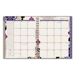 Vienna Weekly/Monthly Appointment Book, 8 1/2 x 11, Purple, 2017