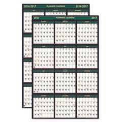 Recycled 4 Seasons Reversible Business/Academic Calendar, 24 x 37, 2016-2017
