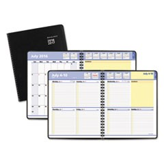 QuickNotes Weekly/Monthly Planner, 8 x 9 7/8, Black, 2017-2018