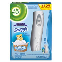 Freshmatic Ultra Automatic Starter Kit, Snuggle Fresh Linen,6.17oz Aerosl,4/Crtn