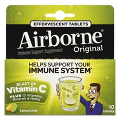 Immune Support Effervescent Tablet, Lemon/Lime, 10 Count
