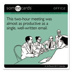 Day Dream SomeECards - Office Wall Calendar, 12 x 11, 2016-2017