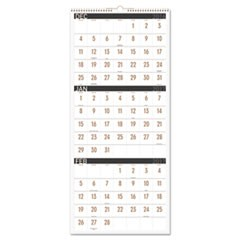 Contemporary Three-Monthly Reference Wall Calendar, 12 x 27 1/8, 2016-2018